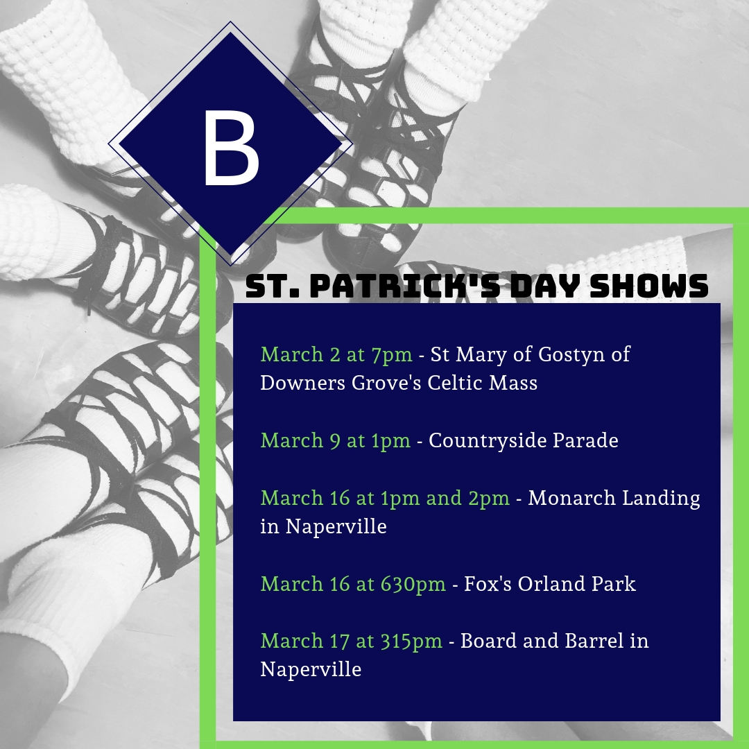 St. Patrick's Day Shows